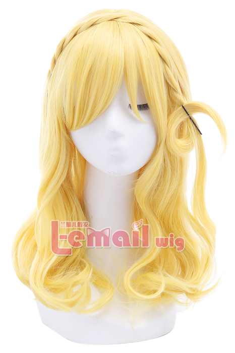 LoveLive!Sunshine!! Ohara Mari Bright Yellow Cosplay Wigs ZY210 ZY210