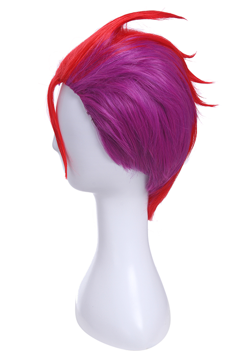Nanbaka Rock NO. 69 Synthetic Wigs Men Short Red Purple Wigs