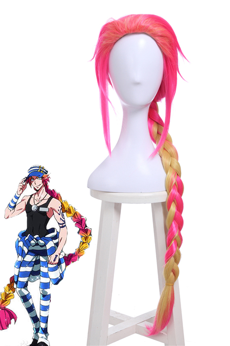 Nanbaka Uno Long Mixed Color Braid Hair Man's Cosplay Wigs ZY229