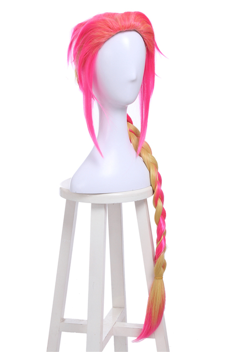 Nanbaka Uno Long Mixed Color Braid Hair Man's Cosplay Wigs