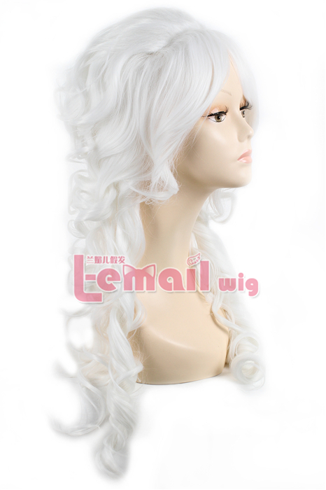 70CM LONG white WAVE PRINCESS COSPLAY HAIR WIG