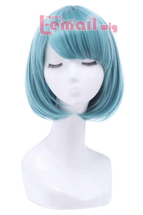 30cm Short Bob Straight Blue Cosplay Wigs CB47E CB47E