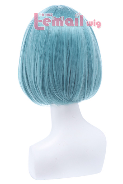 30cm Short Bob Straight Blue Cosplay Wigs CB47E