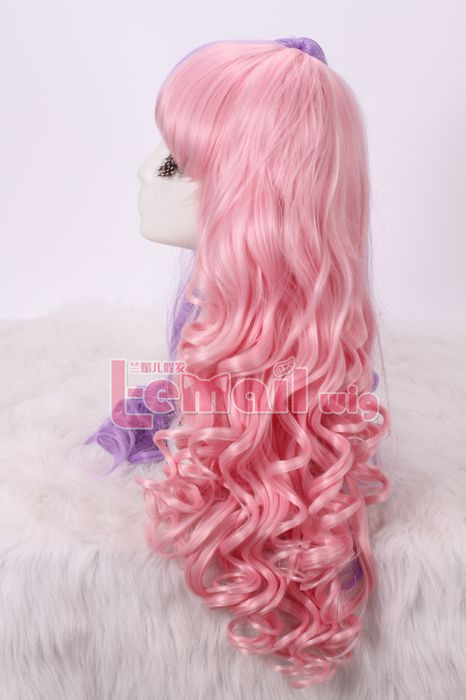 60cm long 4 Color Lolita clip on ponytails wavy cos hair wig