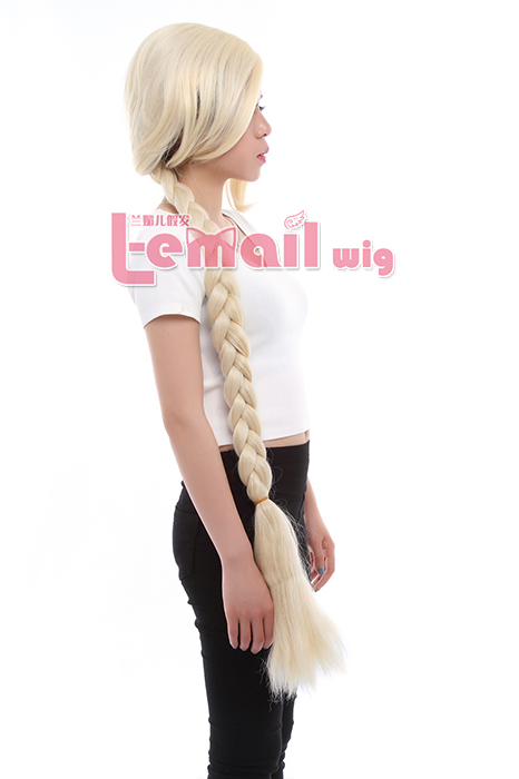 120cm long Blonde cosplay wig Tangled hair wig
