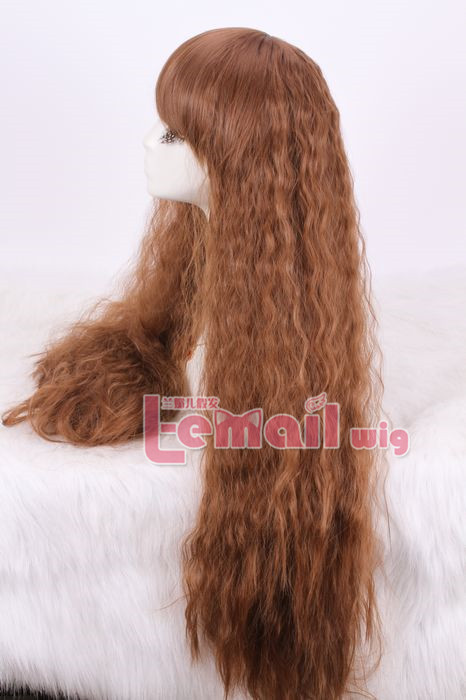 80cm long Rhapsody in brown curly wave cosplay party wig