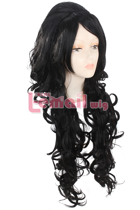 86cm long multi-color Straight Anime Cosplay hair women wig