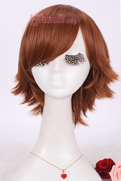 Guilty Crown Ouma Shu short brown 31cm cosplay wig