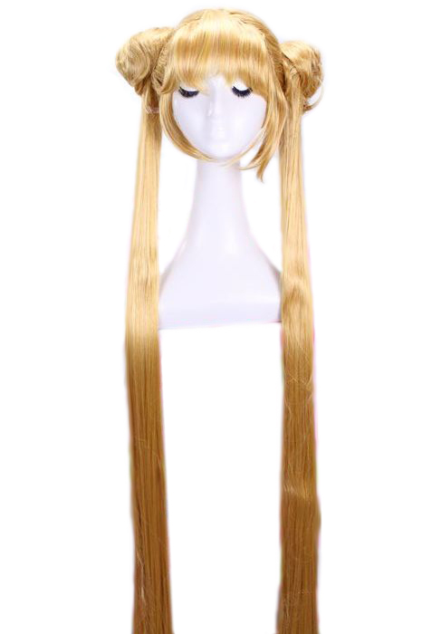 130cm long Aino Minako Sailor Moon straight yellow Cosply wig