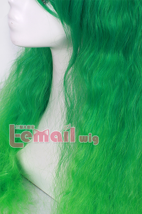 70cm long Rhapsody Green curly wave cosplay hair wig for women