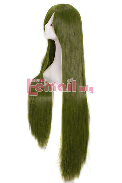 100cm Long Emerald Green Straight Cosplay Hair Wig
