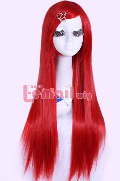 80CM LONG GINTAMA SARUTOBI AYAME Red STRAIGHT COSPLAY WIG