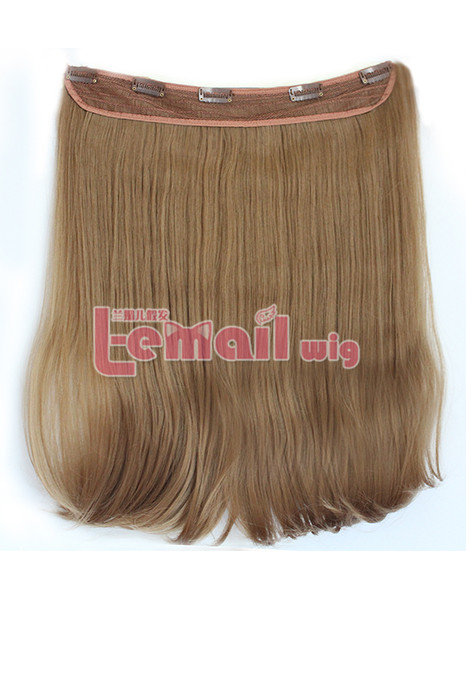 Clip-In Straight heat-resistant fiber Extension for Women
