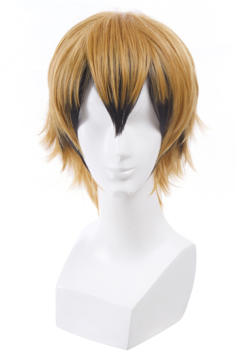 Servamp Hyde Short Blonde And Black Dip Dye Cosplay Wigs ML236