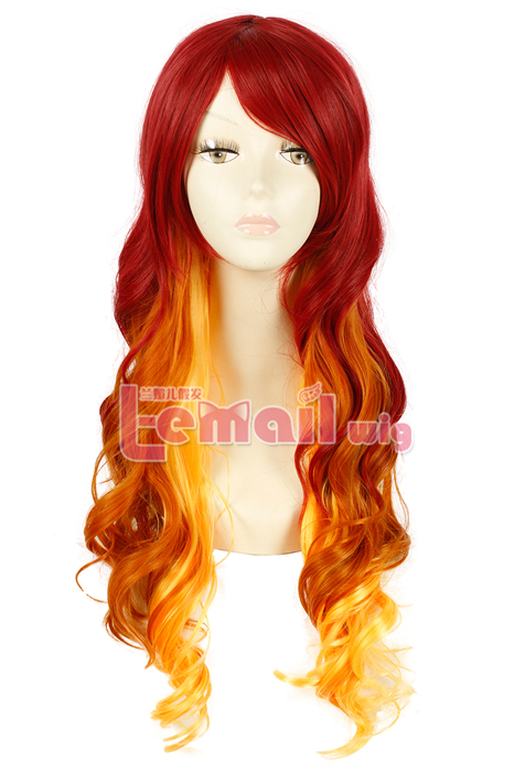 70cm Long Wave two color Fashion Hair Wig