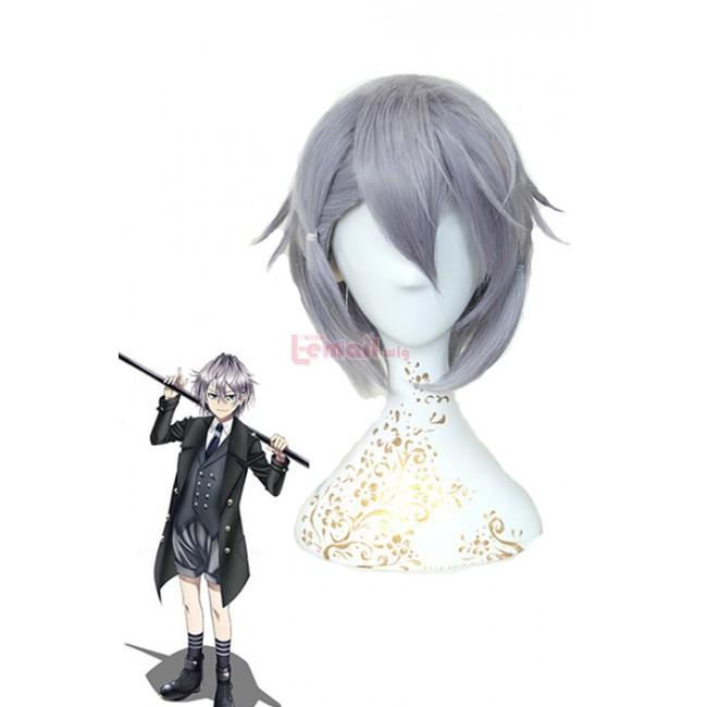 K Return of Kings Sukuna Gojou Short Straight Cosplay Wigs Grey