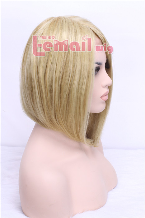 40cm short lace front wig for women hot sell beige color