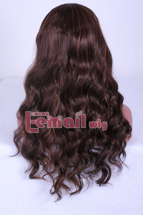 new 60cm long wave brown lace front wig for BRAZILIAN women