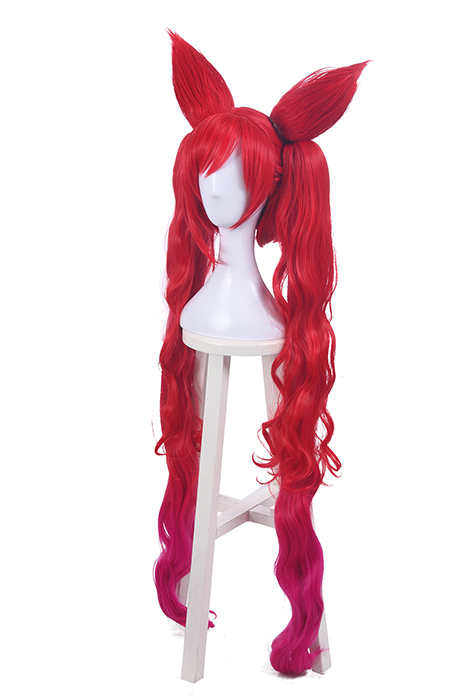 League of Legends Star Guardian Jinx Red Long Cosplay Wigs