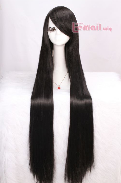 100cm Supper Long Straight Black Shana Anime Cosplay Wig ml120
