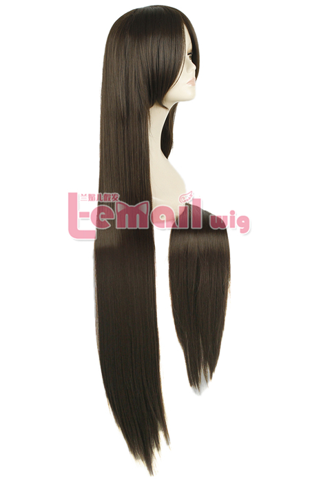 100cm Long Light Brown Straight Fashion Wig