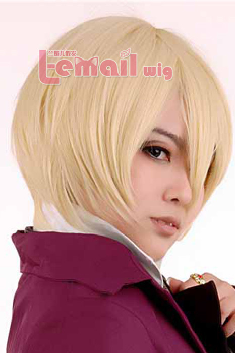 30CM Short Black Butler Alois Trancy Cosplay Hair Wig ML143