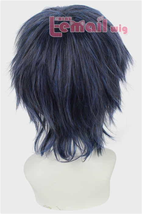 30cm short fluffy VOCALOID KAITO Cosplay party hair wig for men