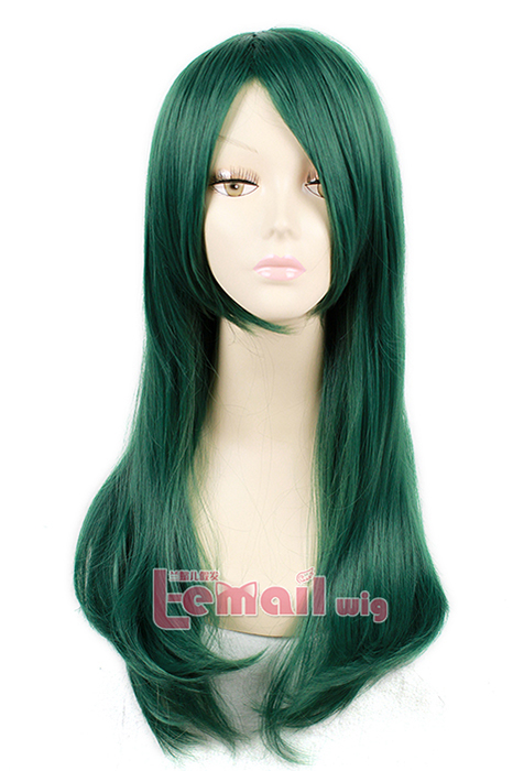Best Quality 60cm Long Dark Green Kido Tsubomi Cosplay Wig ML196
