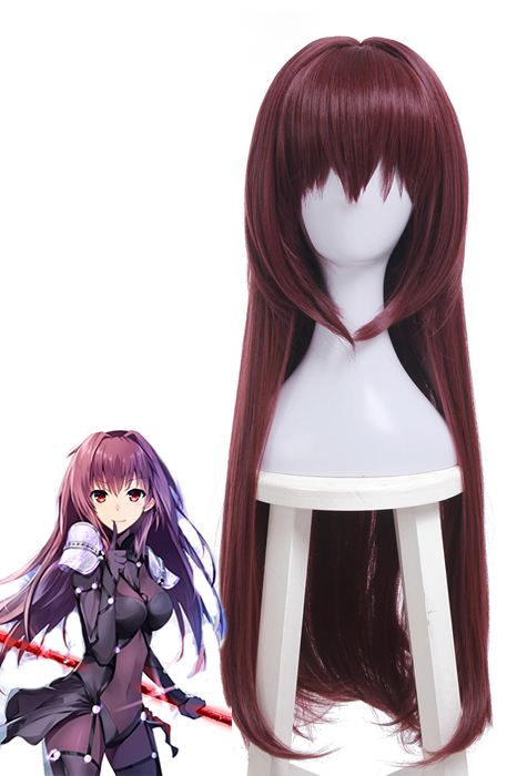 Fate/Grand Order Scathach Long Straight Hair Purple Cosplay Wigs