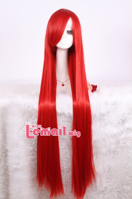 100cm long red Shana straight cosplay wig ML41