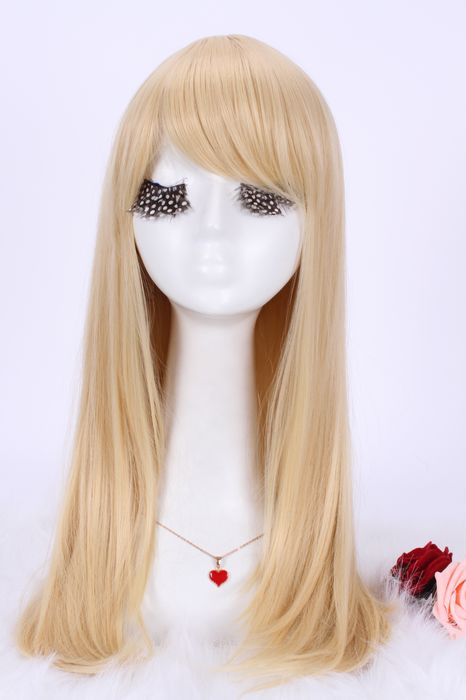 55cm long 5 colors Anime straight Smooth Cosplay women hair wig CW143A