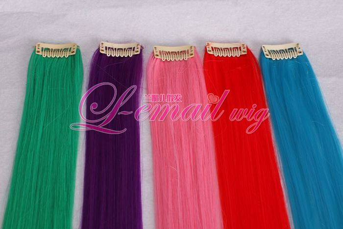 "1PCS 20"" Clip-In Straight heat-resistant fiber Extension"