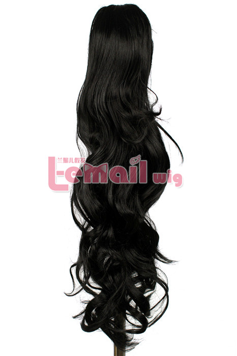 50cm long 6 colors big clip on ponytail hairpiece extension wavy