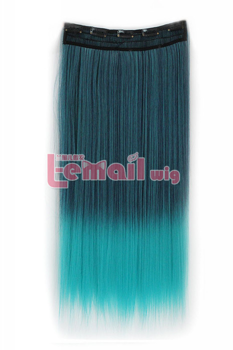 fade green Clip-In Straight heat-resistant fiber Extension