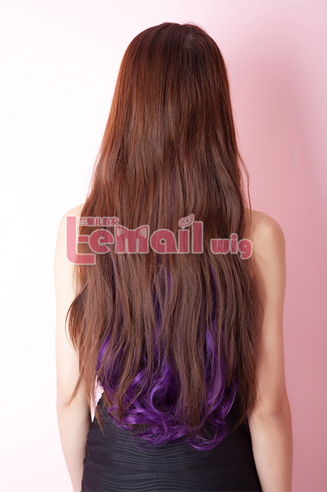 50cm Long Wave Women Clips-In hair extensions with 5 colors