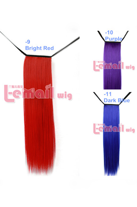 11 colors Clip Extension Hair Piece Long Straight hair wig