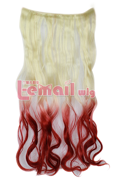 "18"" Synthetic Clip in Extension Hair Piece LONG curly 5 Clips"