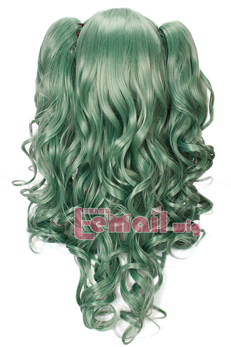 68cm long Green Anime Lolita wavy wigs hair wig