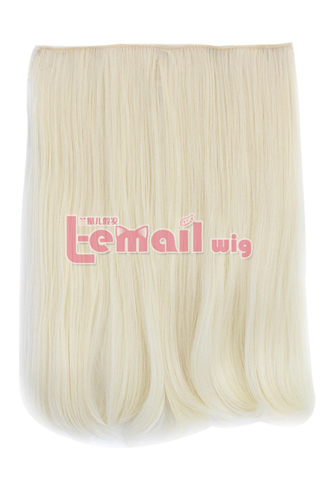 Beige Clip-In Straight heat-resistant fiber Extension for Women