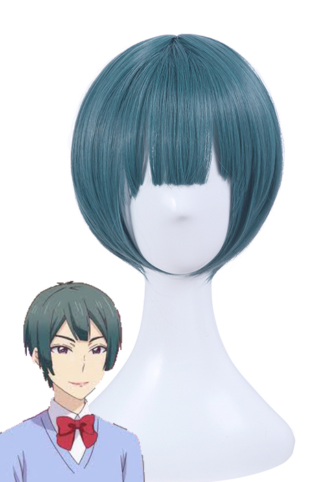 Kiss Him, Not Me Shima Nishina Blue Mixed Green Short Wigs ML244 ML244