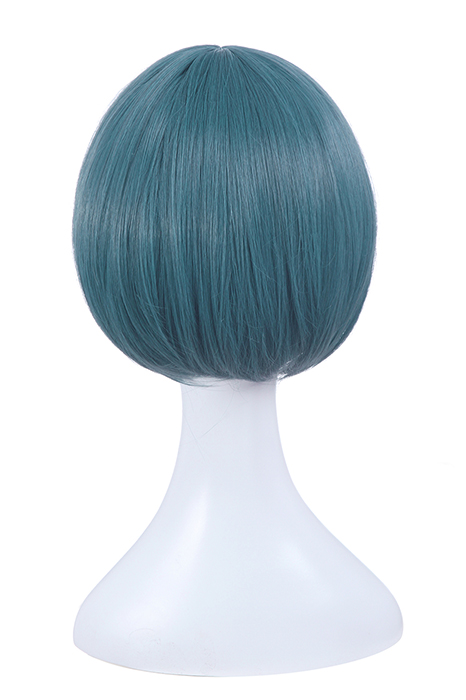 Kiss Him, Not Me Shima Nishina Blue Mixed Green Short Wigs ML244