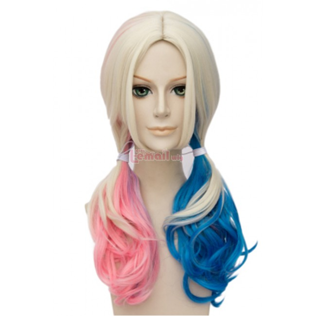 Suicide Squad Harley Quinn Long Wavy Cosplay Wigs ML239-1