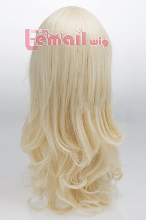 60cm long blonde wavy fashion Hair Wig for women hot sell