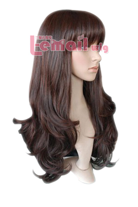 50cm long Dark brown fashion wave women hair wig XFS43A