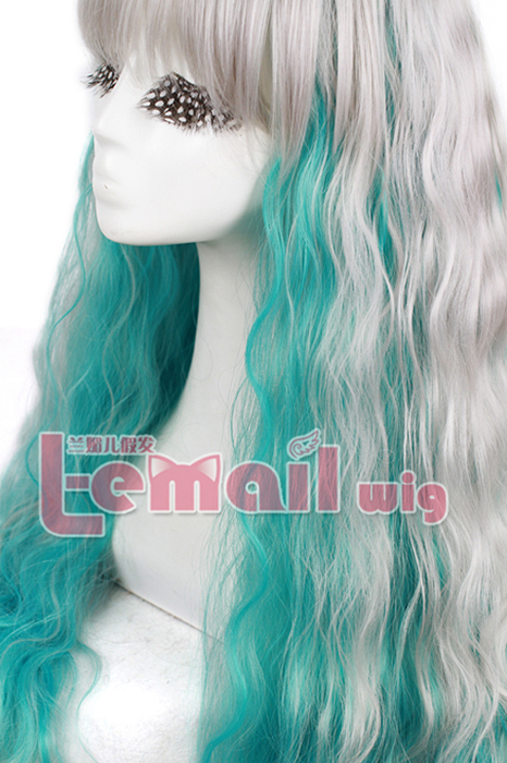 80cm long Rhapsody mix curly wave cosplay wig