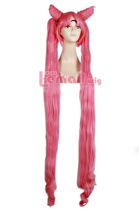 130cm long Pink black lady Sailor Moon Cospaly hair wig ZY116