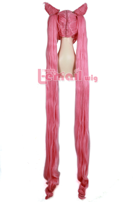 130cm long Pink black lady Sailor Moon Cospaly hair wig