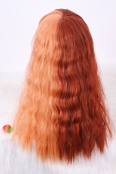 55cm Orange And Brown cosplay wig