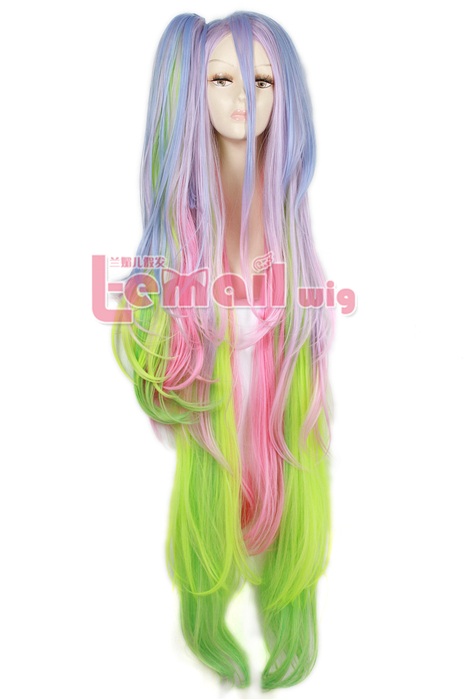 135cm Multi-color long NO GAME NO LIFE Shiro Cosplay Hair Wig ZY131