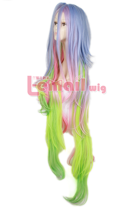 135cm Multi-color long NO GAME NO LIFE Shiro Cosplay Hair Wig